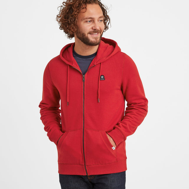Alden Mens Hoody - Chilli Red image 1