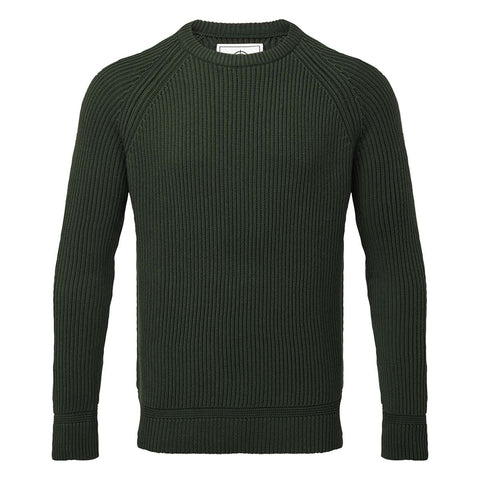 Alford Mens Ribbed Jumper - Forest
