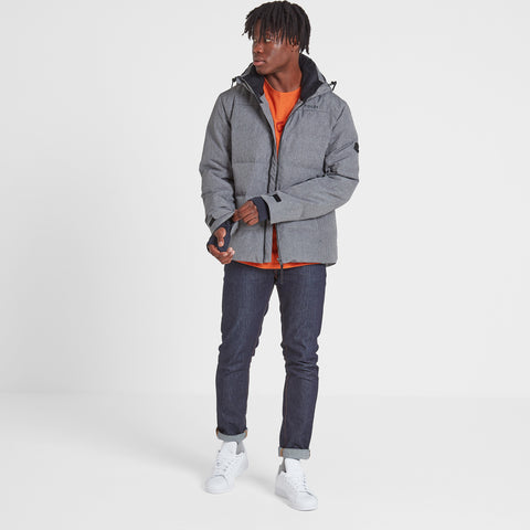 Allerton Mens Winter Jacket - Grey Marl