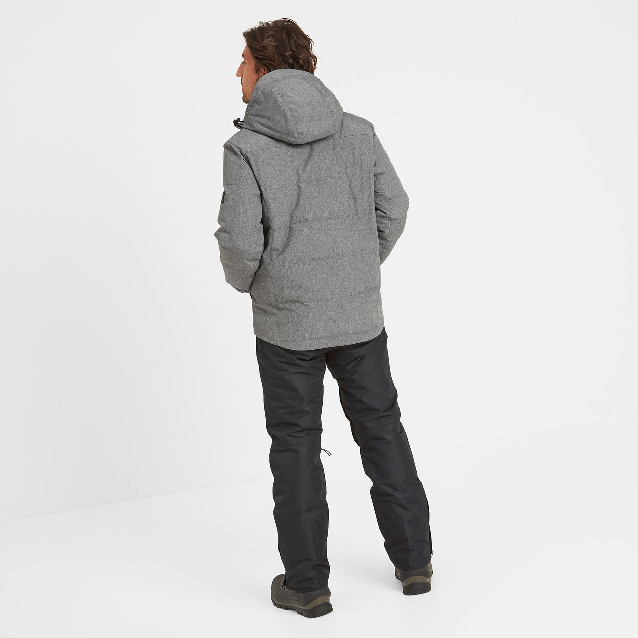 Allerton Mens Down Quilted Ski Jacket - Grey Marl image 4