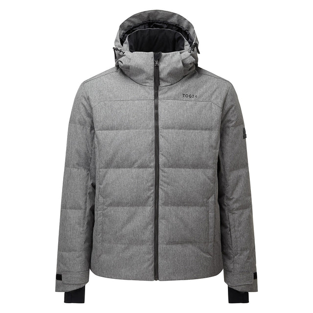 Allerton Mens Down Quilted Ski Jacket - Grey Marl image 5