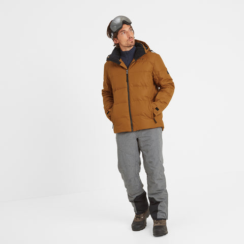 Allerton Mens Down Quilted Ski Jacket - Amber