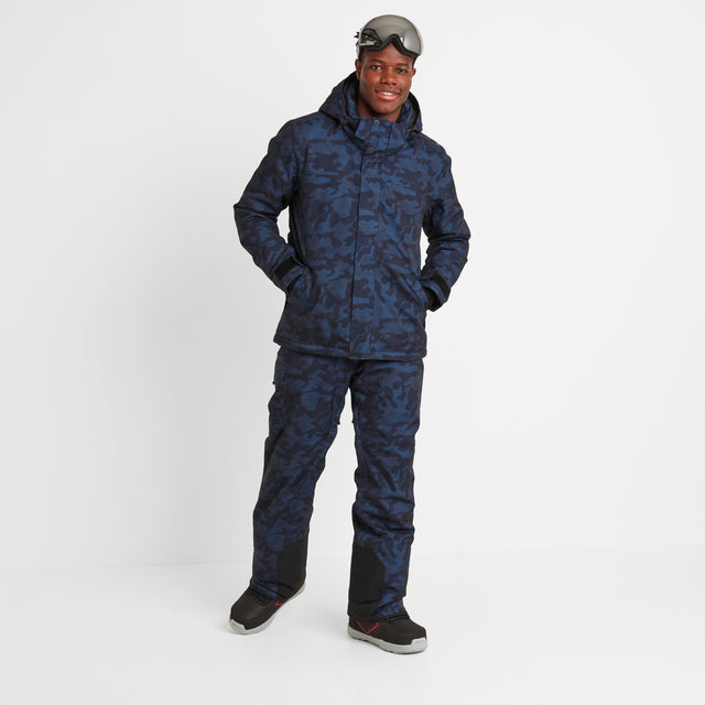 Altitude Mens Ski Jacket - Navy Camo image 2