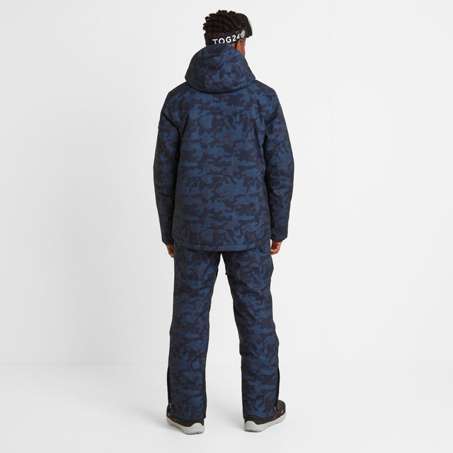 Altitude Mens Ski Jacket - Navy Camo image 3
