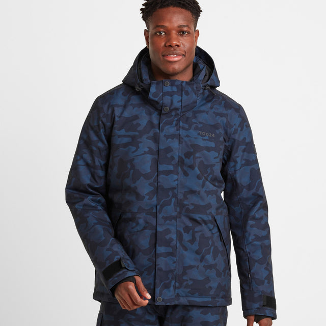 Altitude Mens Ski Jacket - Navy Camo image 1