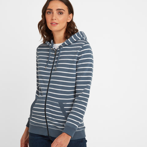 Alyse Womens Zip Hoody - China Blue