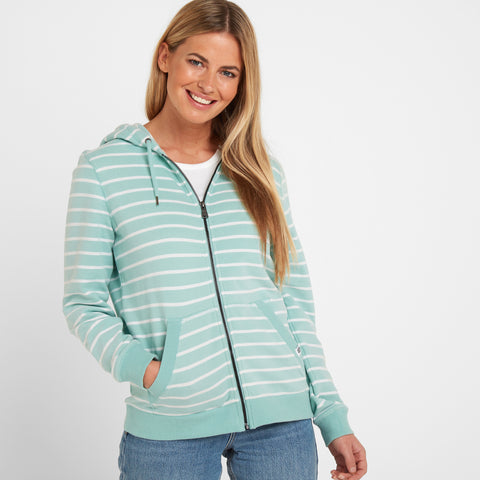 Alyse Womens Zip Hoody - Eggshell Blue