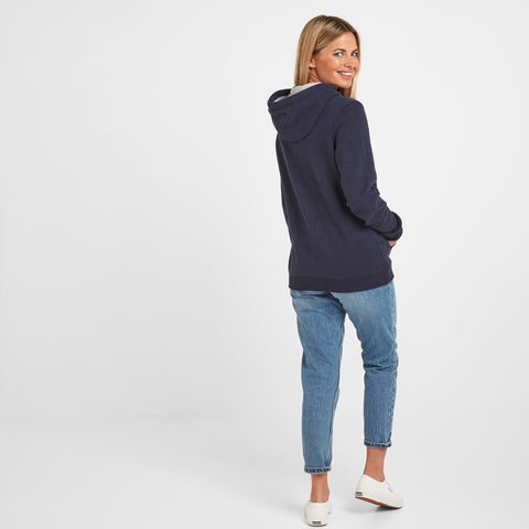 Amelia Womens Zip Hoody - Navy