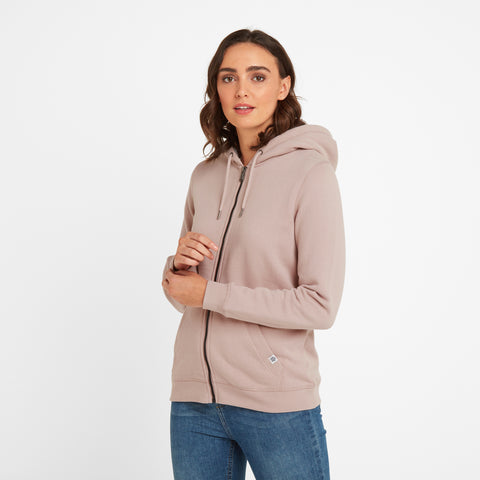 Amelia Womens Zip Hoody - Rose Pink