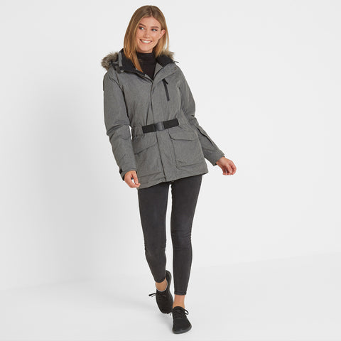 Aria Womens Winter Jacket - Grey Marl