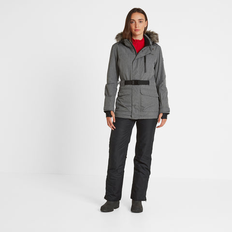 Aria Womens Waterproof Insulated Ski Jacket - Grey Marl
