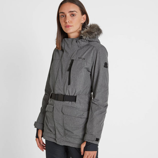Aria Womens Waterproof Insulated Ski Jacket - Grey Marl image 3