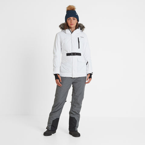 Aria Womens Waterproof Insulated Ski Jacket - White