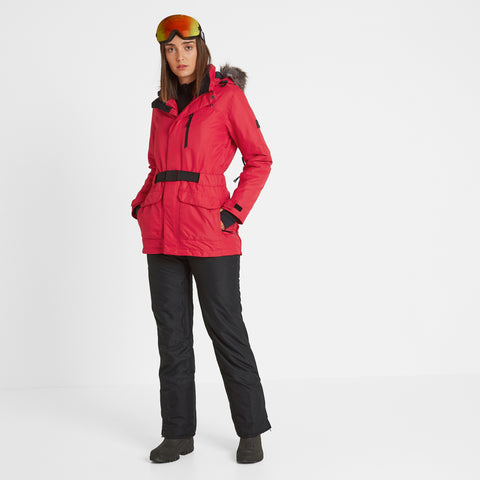 Aria Womens Waterproof Insulated Ski Jacket - Rouge