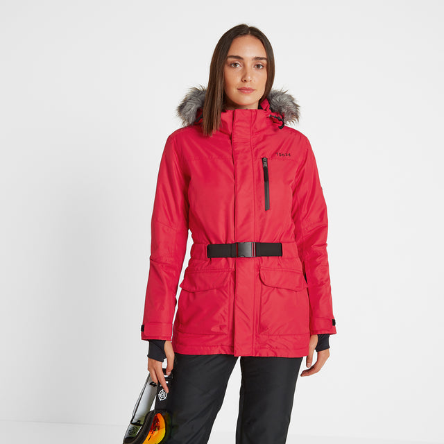Aria Womens Waterproof Insulated Ski Jacket - Rouge image 3