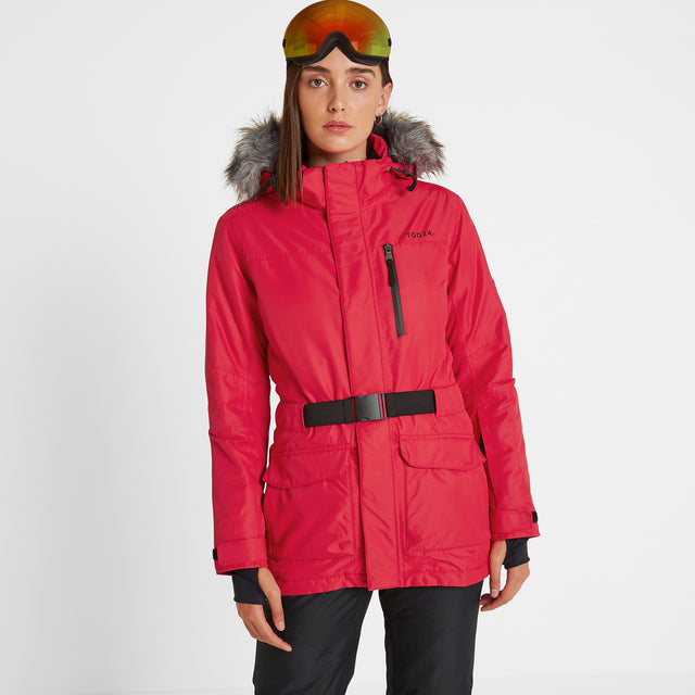 Aria Womens Waterproof Insulated Ski Jacket - Rouge image 1