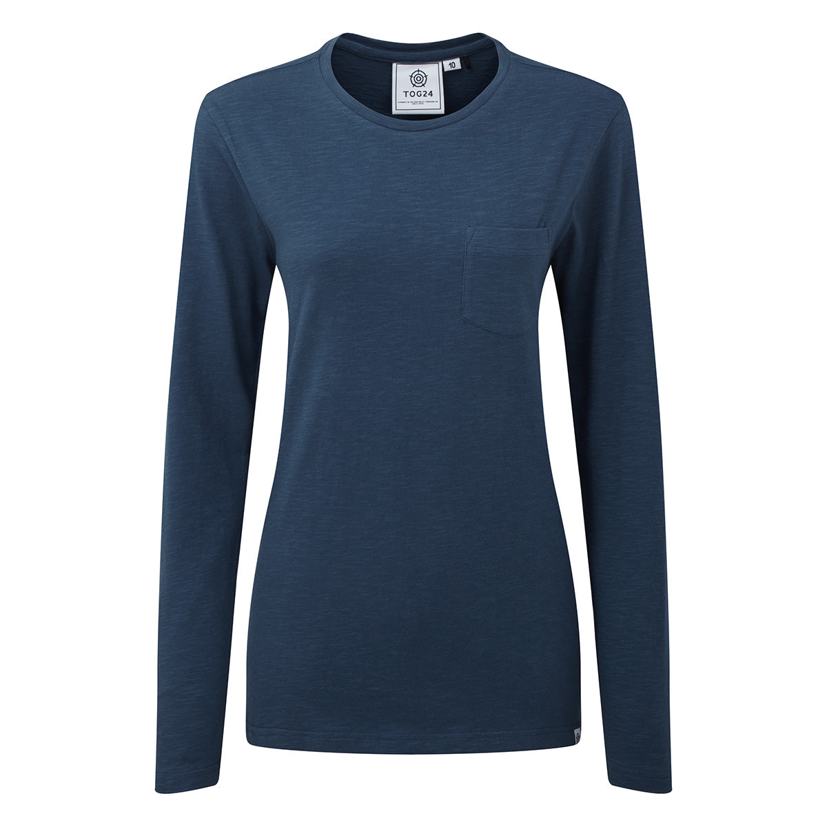 Askwith Womens Long Sleeve Pocket T-Shirt - Blue image 4
