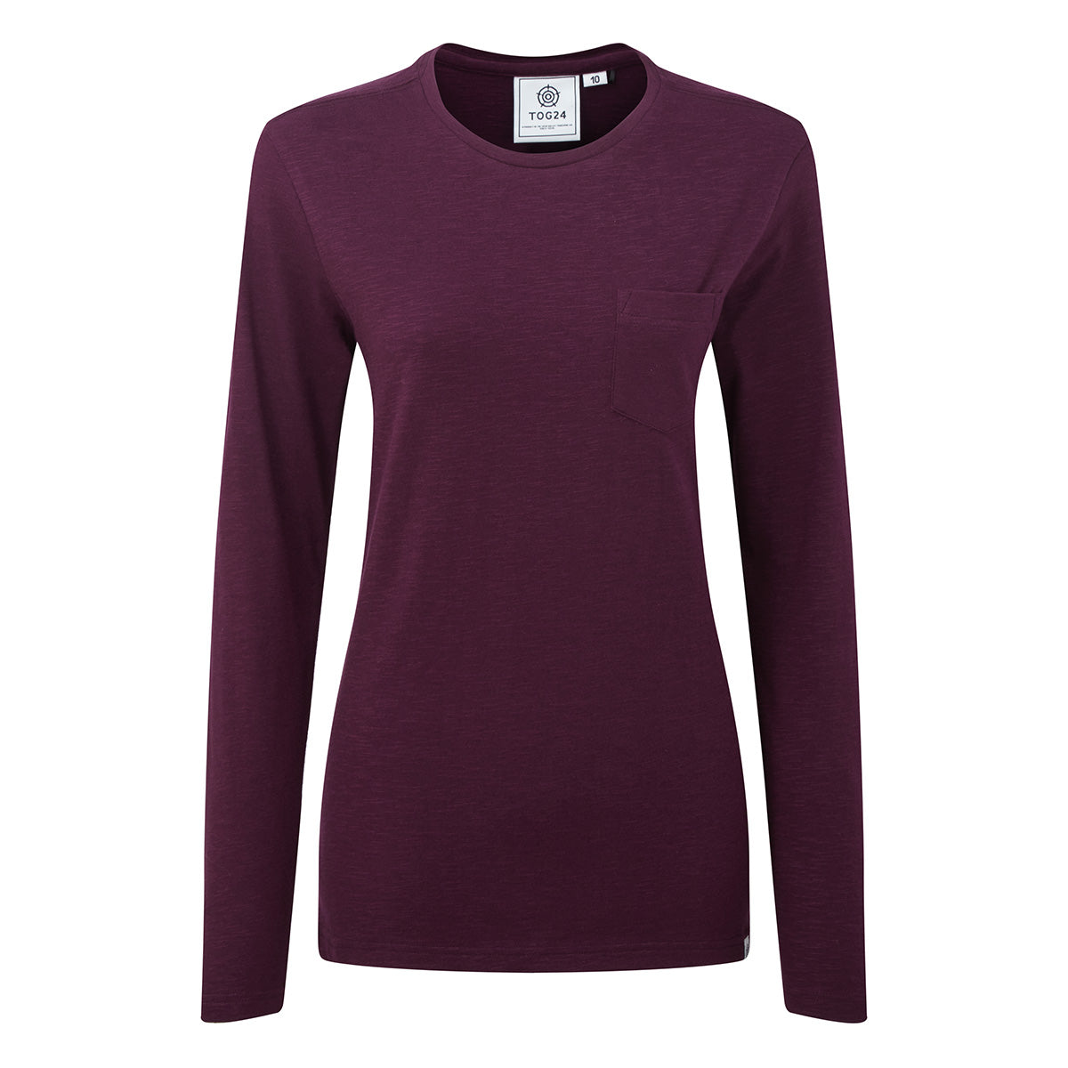Askwith Womens Long Sleeve Pocket T-Shirt - Aubergine image 4