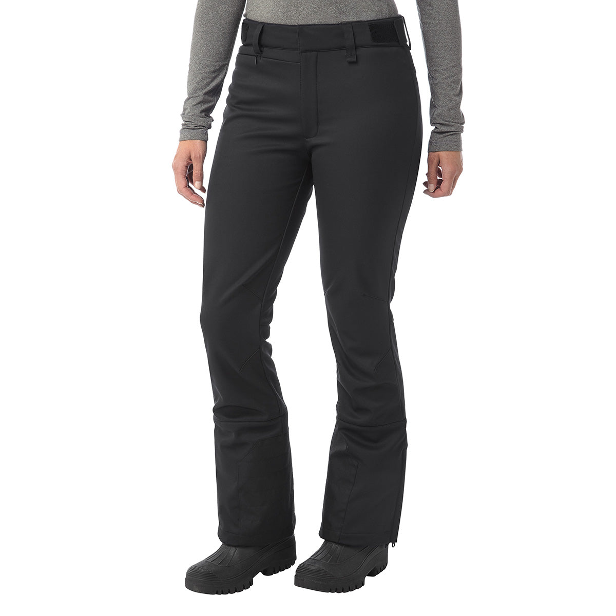Aubree Womens Fitted Softshell Ski Pants Short - Black