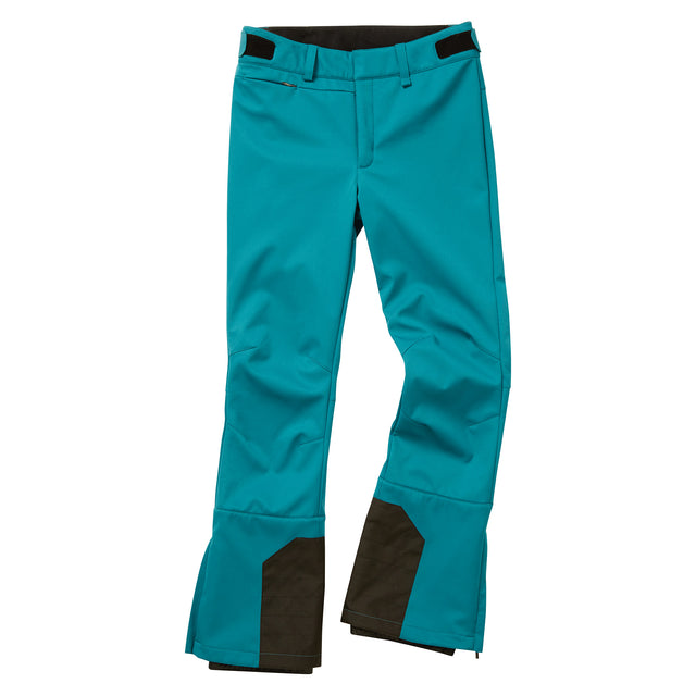Aubree Womens Fitted Softshell Ski Pants Short - Topaz image 3