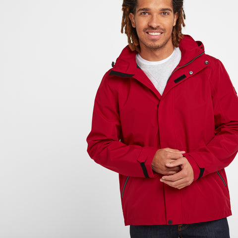 Bairstow Mens Waterproof Jacket - Chilli Red