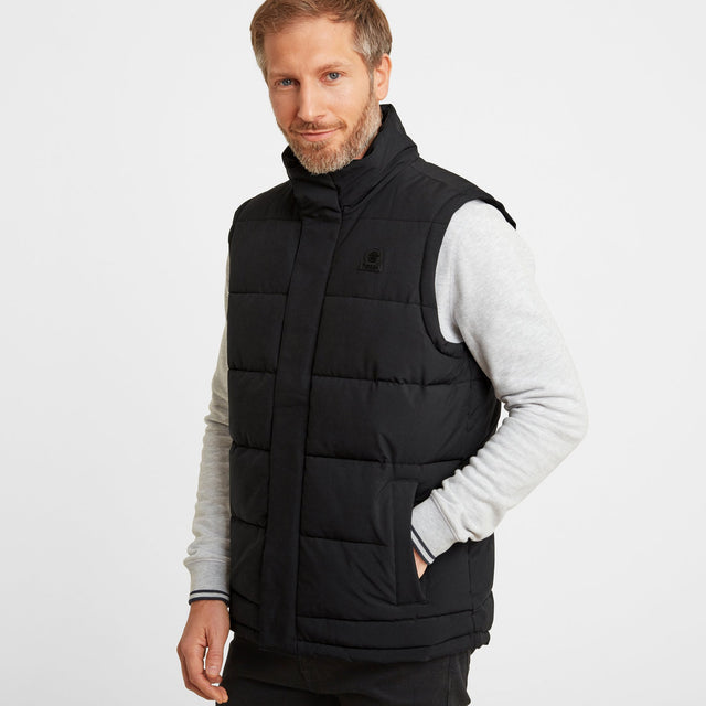 Barmston Mens Insulated Gilet - Black image 1
