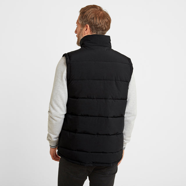 Barmston Mens Insulated Gilet - Black image 2
