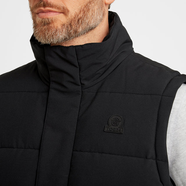 Barmston Mens Insulated Gilet - Black image 5