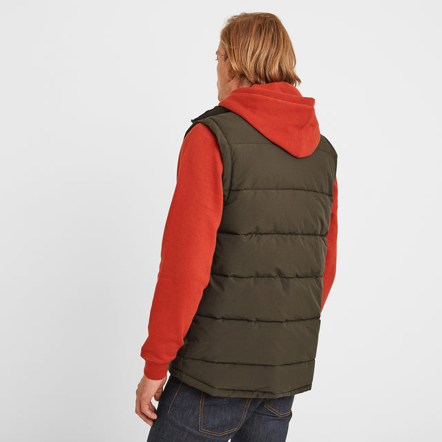 Barmston Mens Insulated Gilet - Dark Khaki image 2