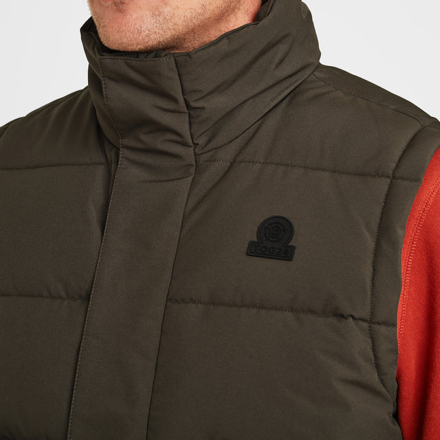 Barmston Mens Insulated Gilet - Dark Khaki image 5