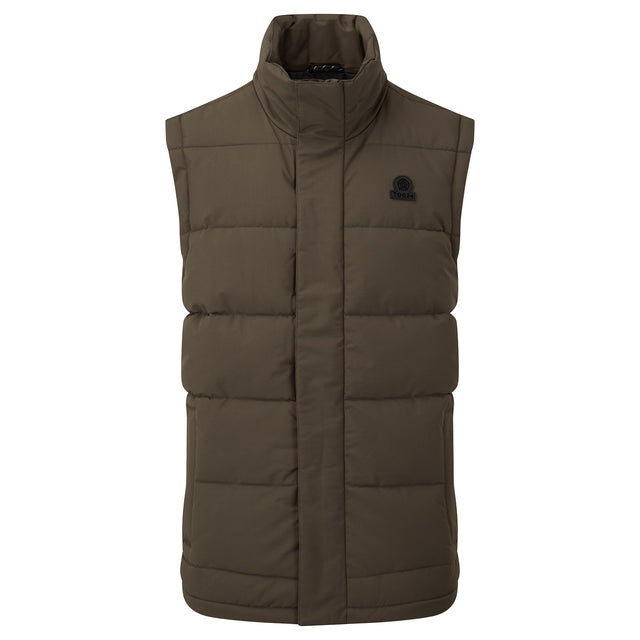 Barmston Mens Insulated Gilet - Dark Khaki image 3