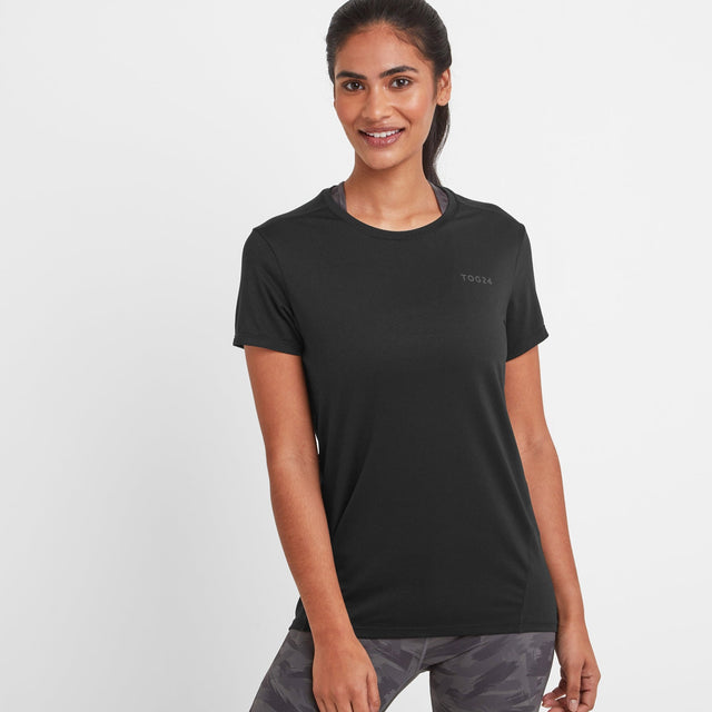 Barton Womens Tech T-Shirt - Black image 1