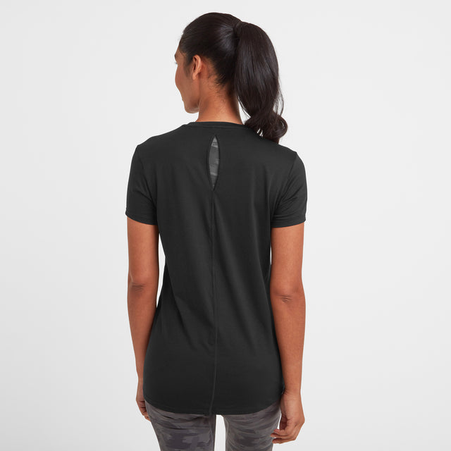 Barton Womens Tech T-Shirt - Black image 2