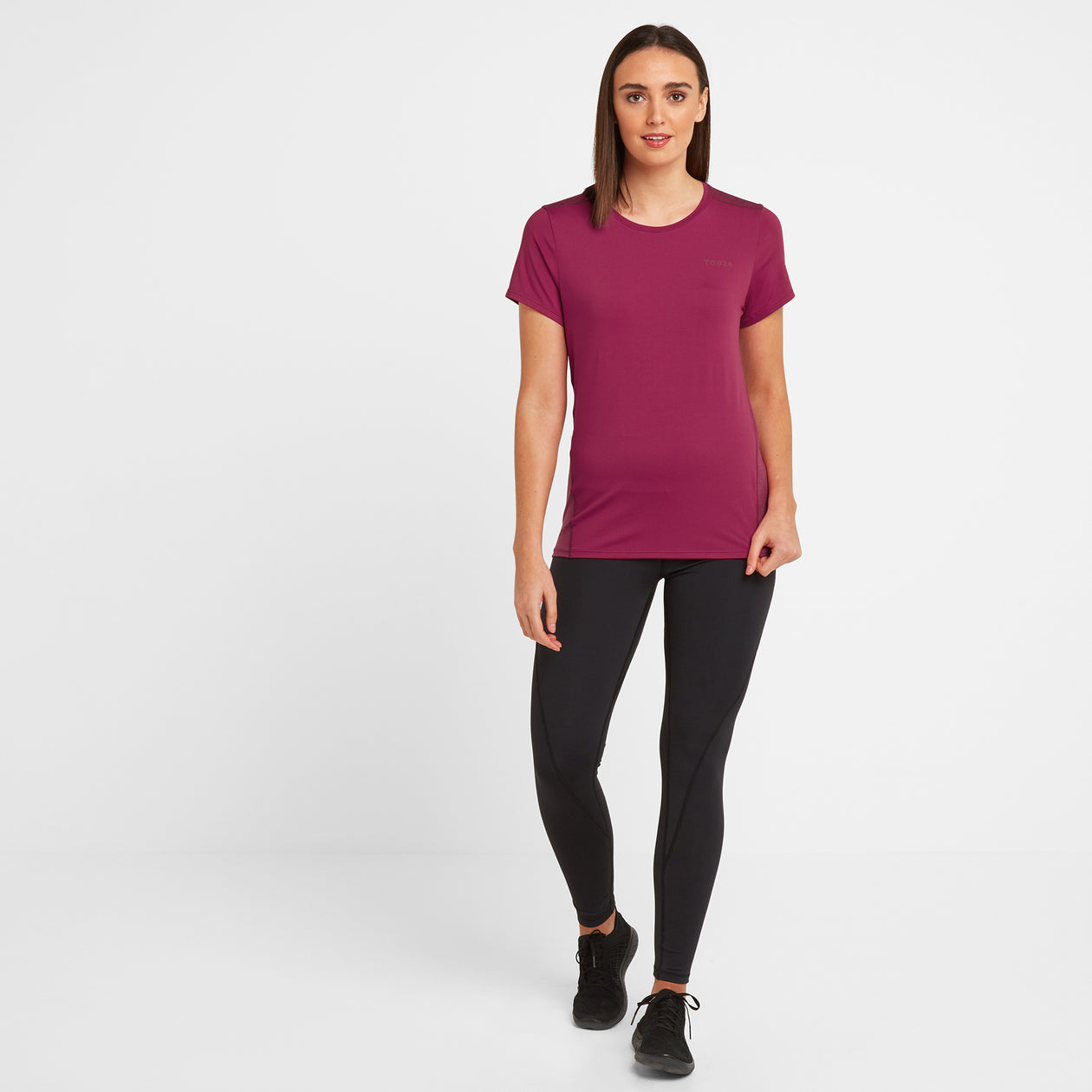 Barton Womens Tech T-Shirt - Sangria image 4