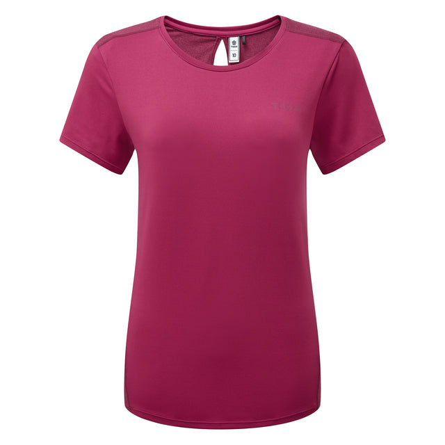 Barton Womens Tech T-Shirt - Sangria image 3