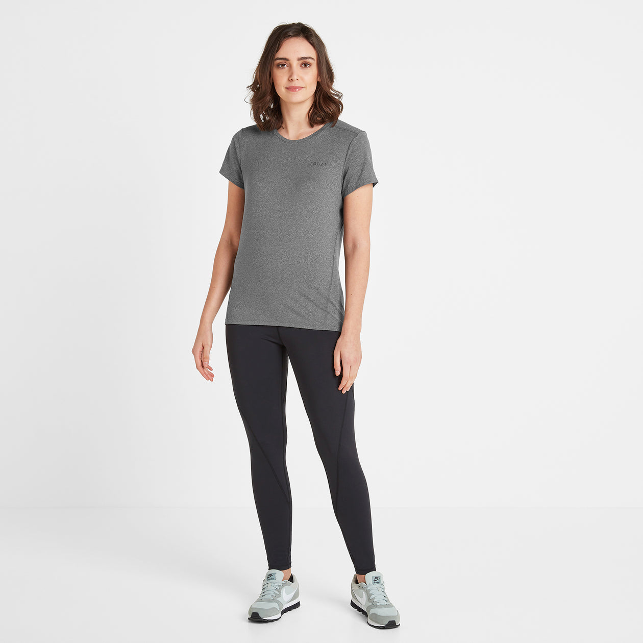 Barton Womens Tech T-Shirt - Dark Grey Marl image 4