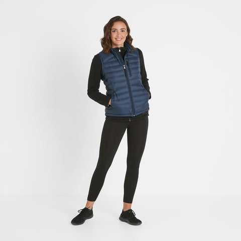 Base Womens Down Gilet - Dark Indigo