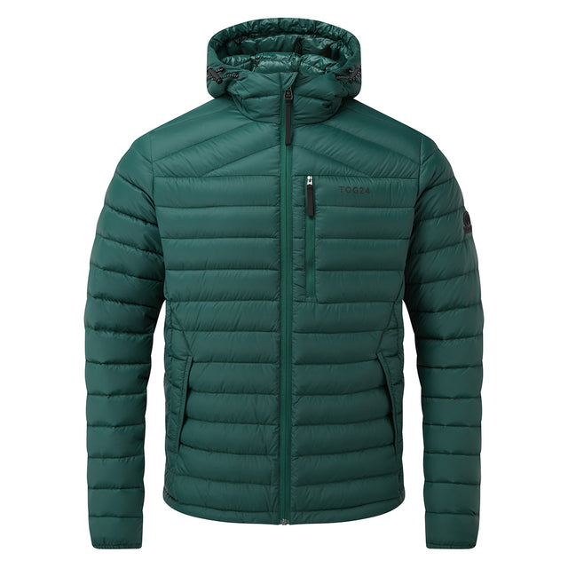 Base Mens Hooded Down Jacket - Forest image 6