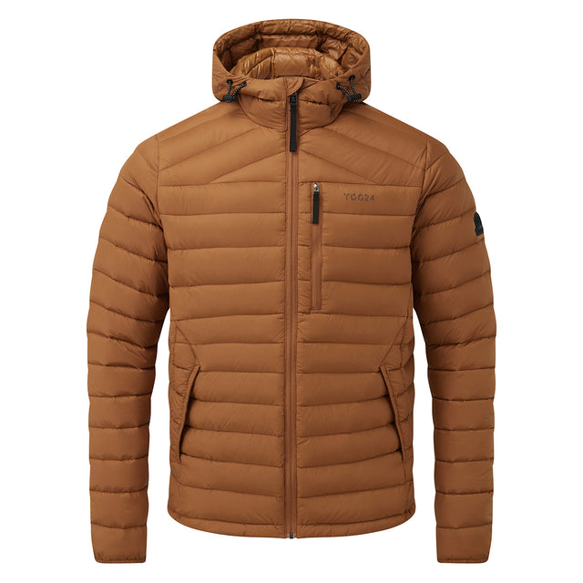 Base Mens Hooded Down Jacket - Amber image 6