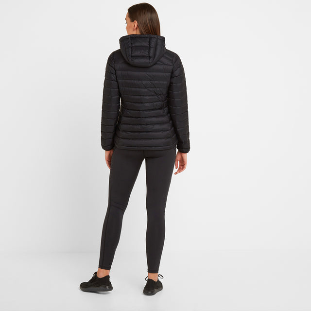 Base Womens Hooded Down Jacket - Coal Grey image 2