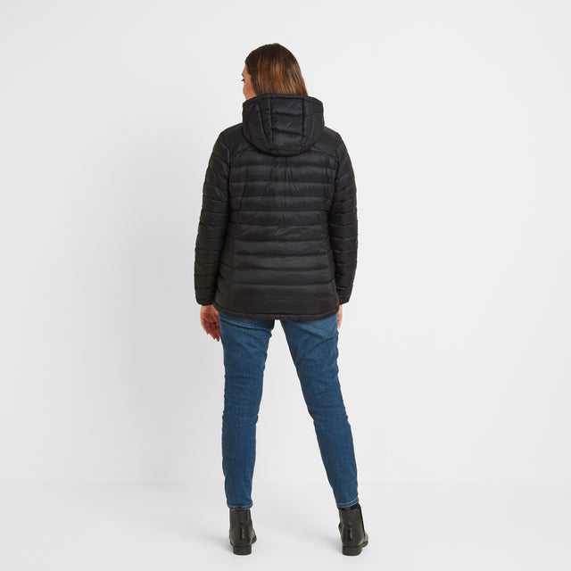 Base Womens Hooded Down Jacket - Coal Grey image 6