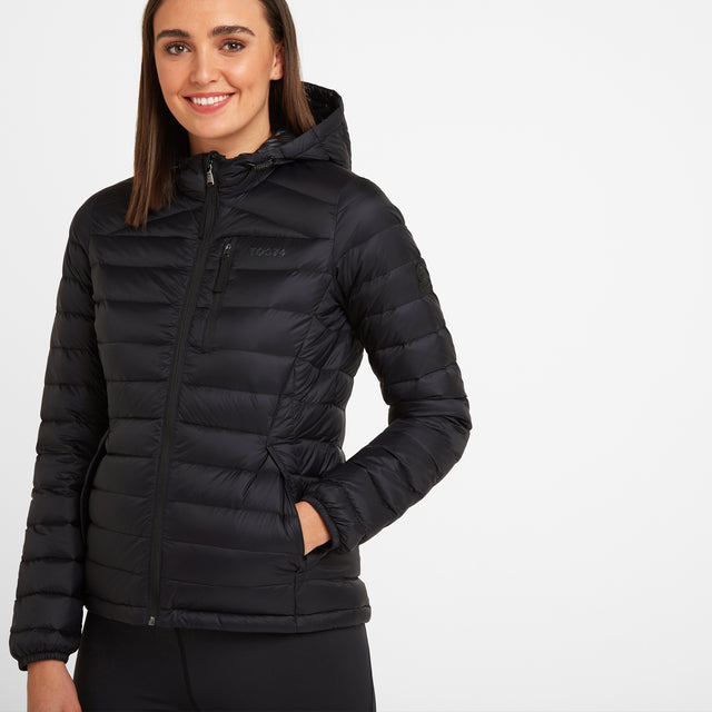 Base Womens Hooded Down Jacket - Coal Grey image 1