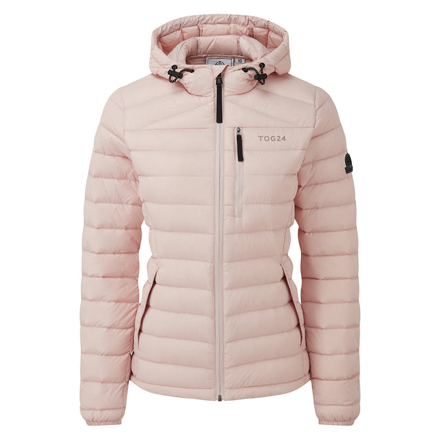 Base Womens Hooded Down Jacket - Rose Pink image 6