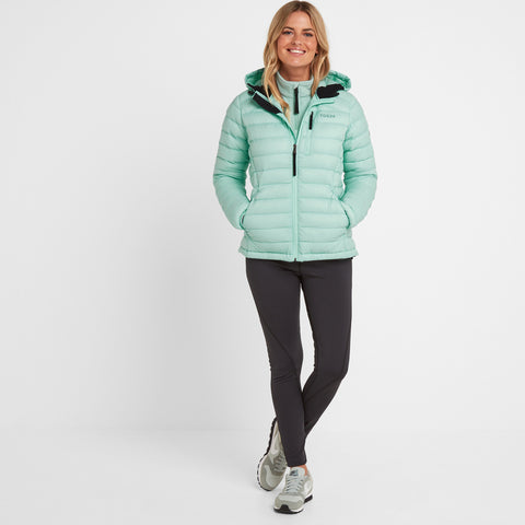 Base Womens Hooded Down Jacket - Eggshell Blue