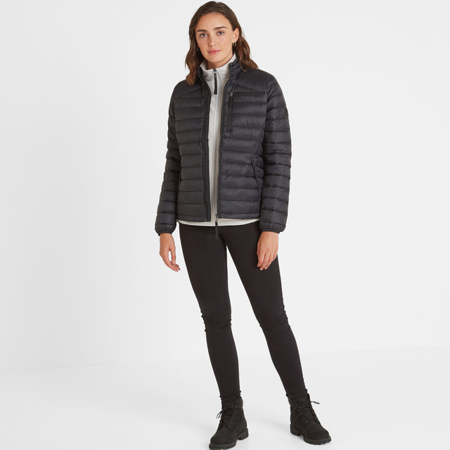 Base Womens Funnel Down Jacket - Coal Grey image 2