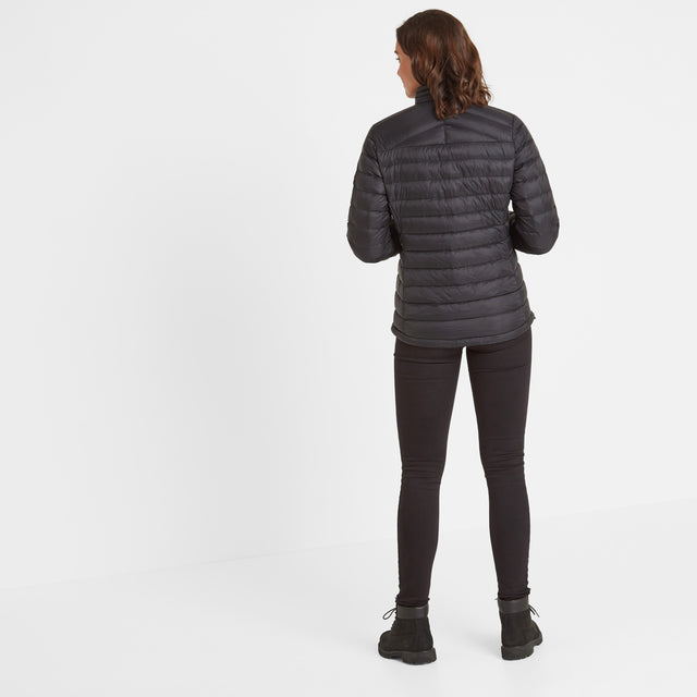 Base Womens Funnel Down Jacket - Coal Grey image 3