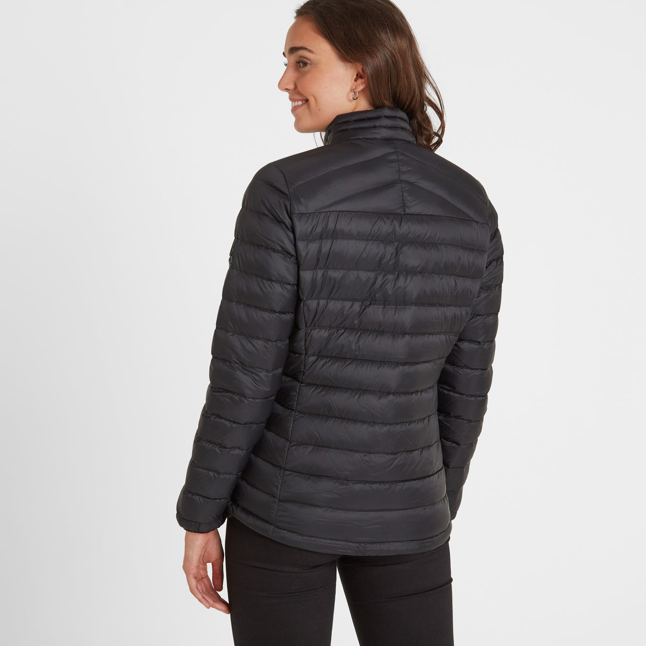Base Womens Funnel Down Jacket - Coal Grey image 4