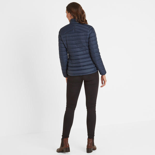 Base Womens Funnel Down Jacket - Dark Indigo image 2