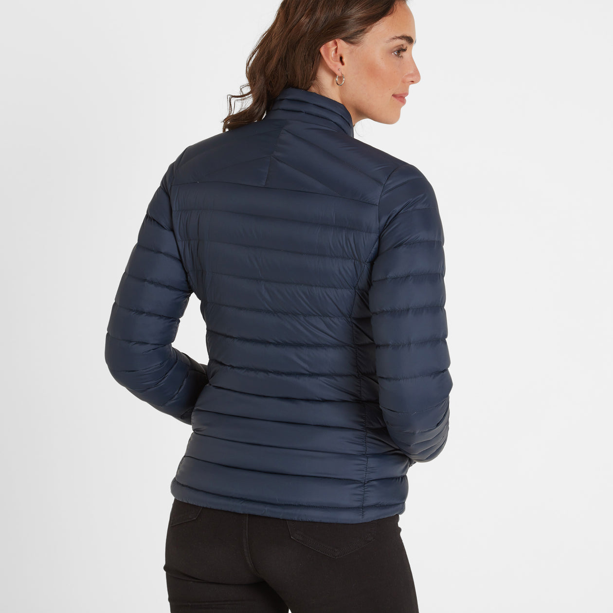 Base Womens Funnel Down Jacket - Dark Indigo image 4