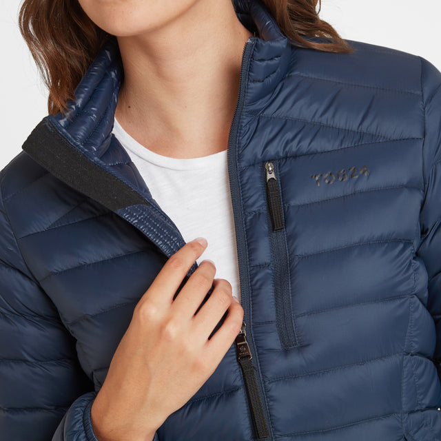 Base Womens Funnel Down Jacket - Dark Indigo image 5